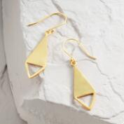 Matte Gold Triangle Drop Earrings