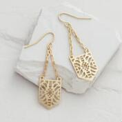 Gold Geometric Cutout Drop Earrings