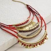 Multicolored Layered  Statement Necklace