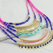 Pink Multi-Layer Boho-Statement Necklace