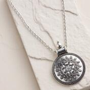 Silver Ancient-Style Pendant Necklace