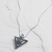 Silver Ancient-Inspired Tribal Pendant Necklace