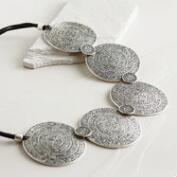 Silver Turkish Medallions Necklace