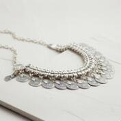 Silver Coin Drop Necklace