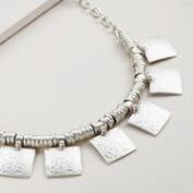 Silver Square Necklace