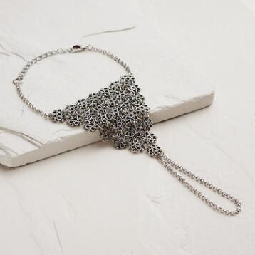 Silver Chain Mail Hand Jewelry