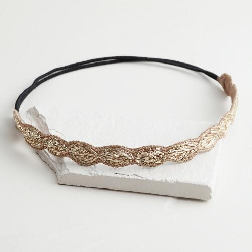 Soft Gold Leaf Headband