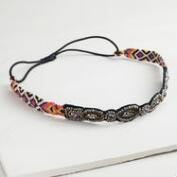 Woven Tribal Headband with Beads