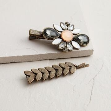 Estate Style Jewel Hairpins, Set of 2