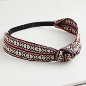 Embroidered Woven Knot Headband