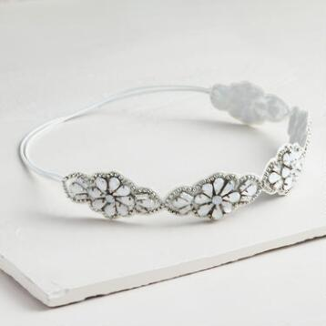 White Rhinestone Headband