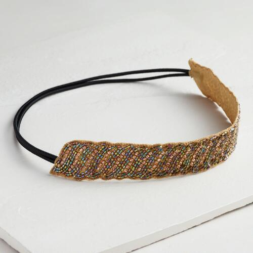 Beaded Rhinestone Headband