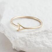 Gold Triangle Midi Ring