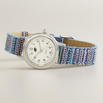Blue Tribal Fabric Watch