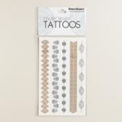 Hamsa Leaves Flash Tattoos, 4-Pack
