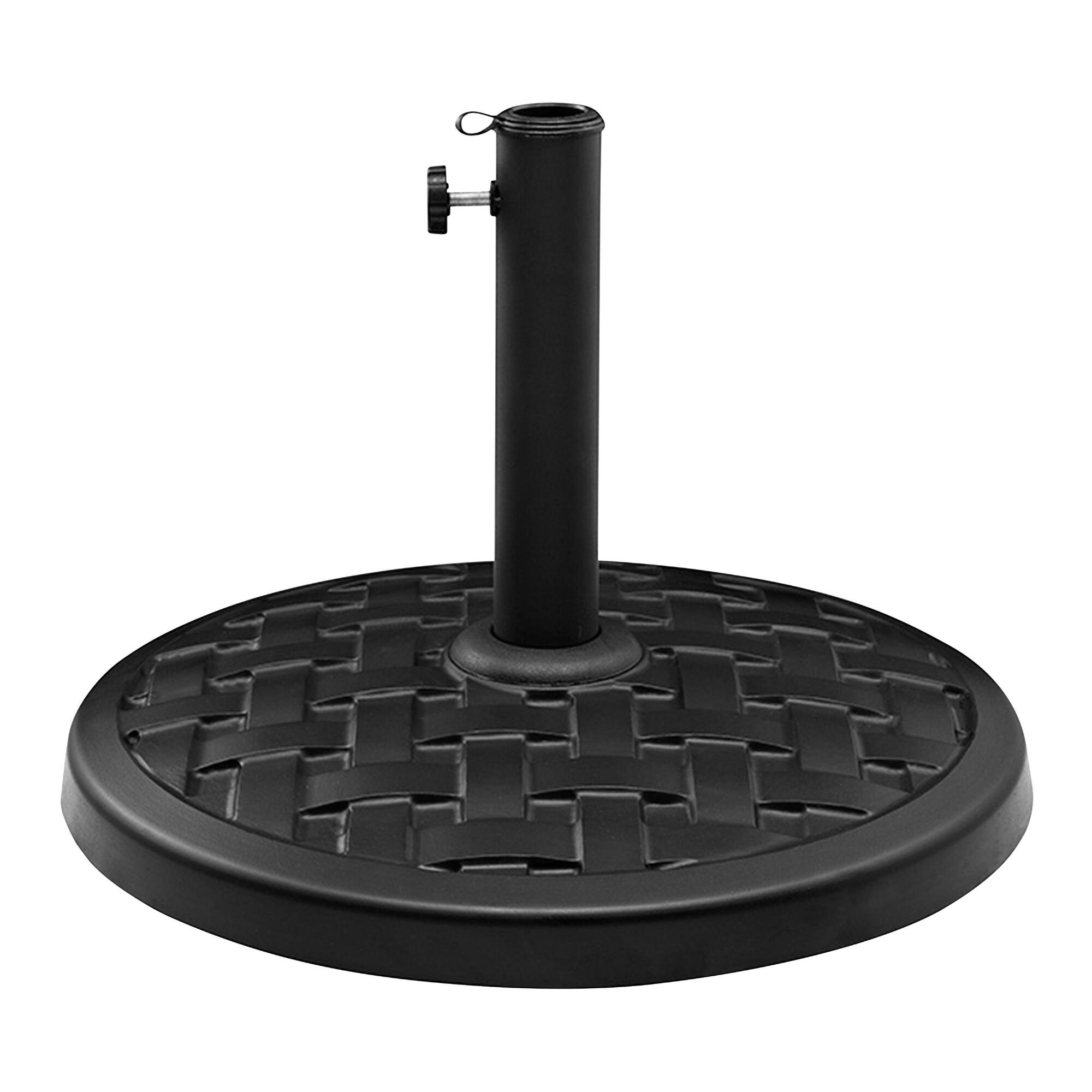 Black Basket Weave Umbrella Stand