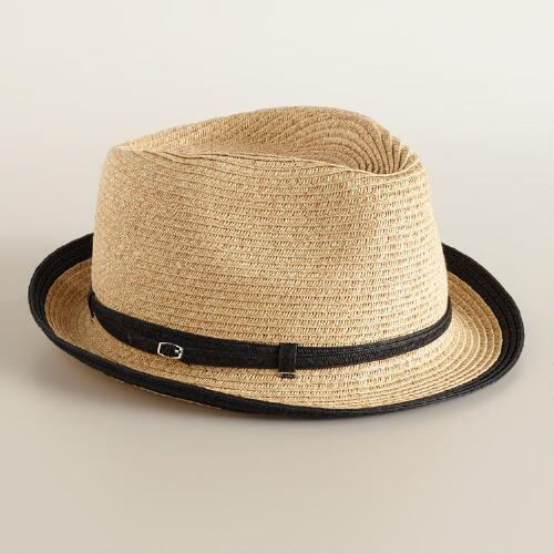Fedora with Black Piping