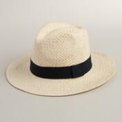 Natural Panama Hat with Black Band