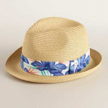 Neutral Fedora with Tropical Band