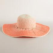 Coral Ombre Sunhat with Shell
