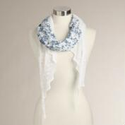 Blue Lace Crochet Scarf