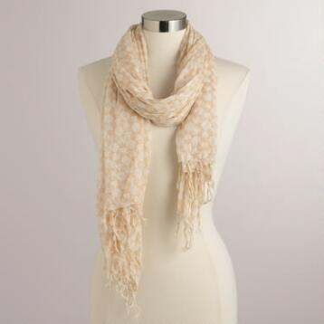 Neutral Cotton Scarf