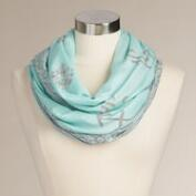 Mint and Gray Sun Sign Infinity Scarf