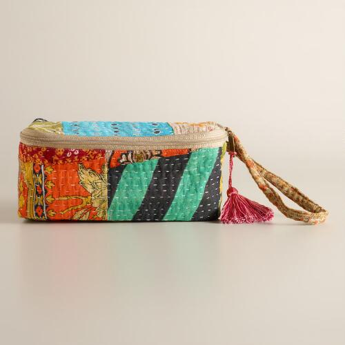 Kantha Patchwork Cosmetic Case