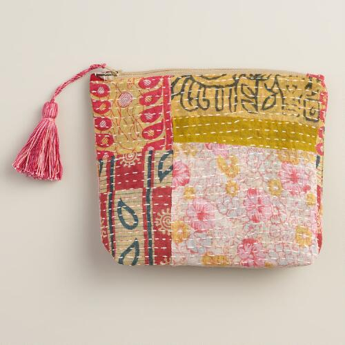 Kantha Patchwork Pouch