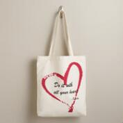 Buddha Heart Quote Tote Bag