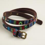 Multicolor Tribal Skinny Belt