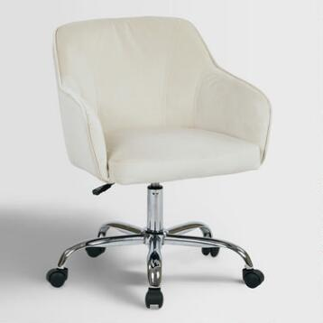 Oyster Beige Velvet Jozy Home Office Chair