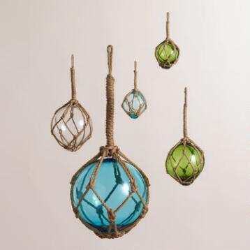 Glass Ball Float Decor, Set of 3