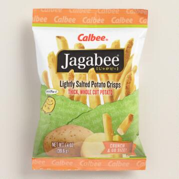 Calbee Jagabee Lightly Salted Potato Crisps, Set of 8