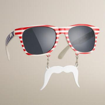 Patriotic  Sun-Stache Sunglasses