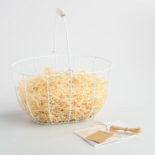 White Wire Gift Basket Kit