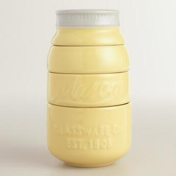 Yellow Mason Jar Measuring Cups