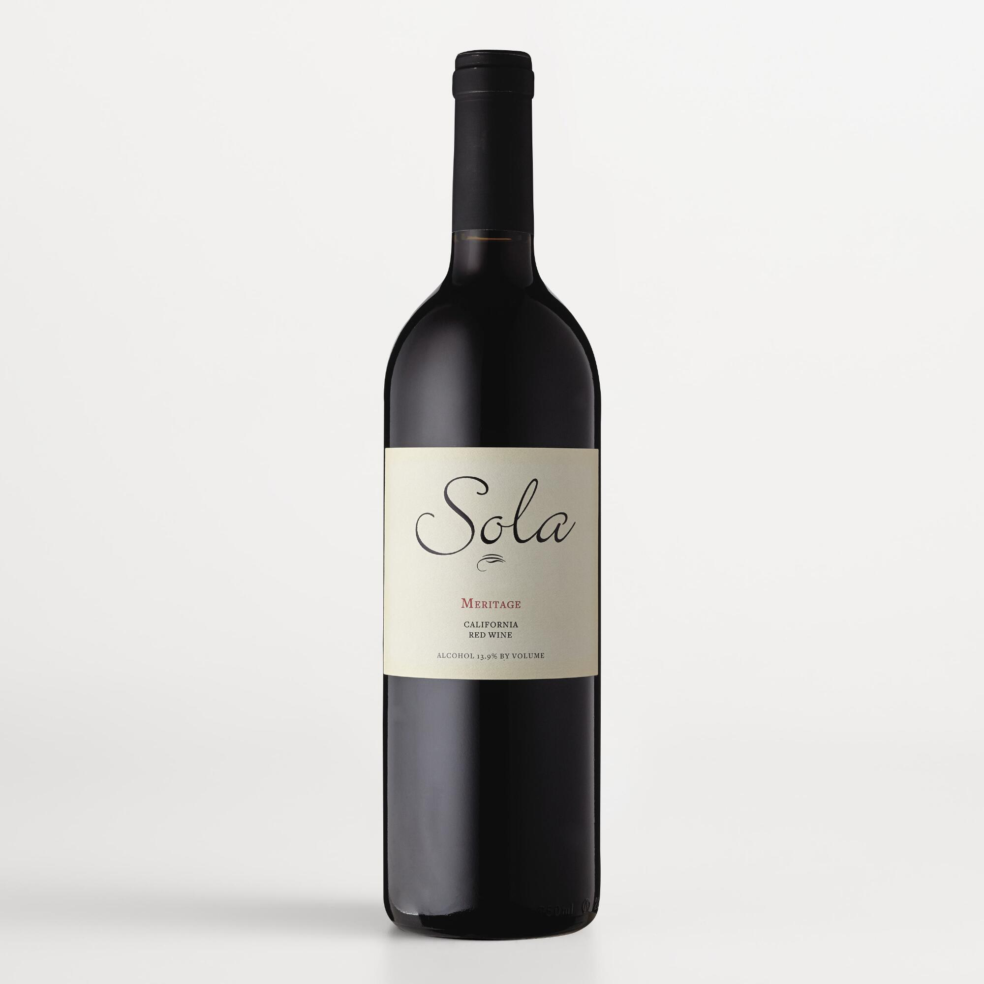 sola meritage red wine authentic oak red wine