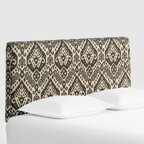 Charcoal Safi Loran Upholstered Headboard