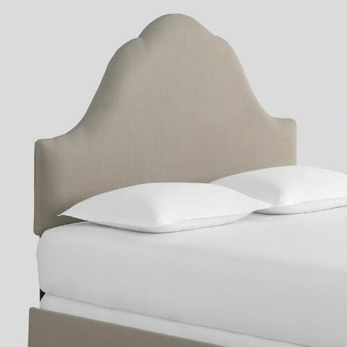 Textured Woven Elsie Upholstered Bed
