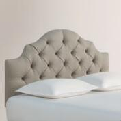 Textured Woven Sabine Upholstered Headboard