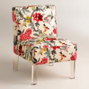 Randen Upholstered Chair in Warm-Toned Prints