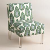 Randen Upholstered Chair in Green Prints
