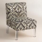Randen Upholstered Chair in Charcoal Prints