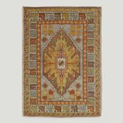 3'x4.2' Vintage Double Medallion Turkish Area Rug