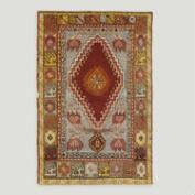 2.8'x4.3' Vintage Asymmetric Medallion Turkish Area Rug