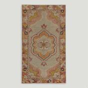 3.1'x5.5' Vintage Floral Medallion Turkish Area Rug