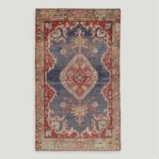 3.5'x5.8' Vintage Large Medallion Turkish Area Rug