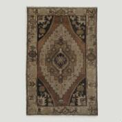 3.4'x5.4' Vintage Large Medallion Turkish Area Rug
