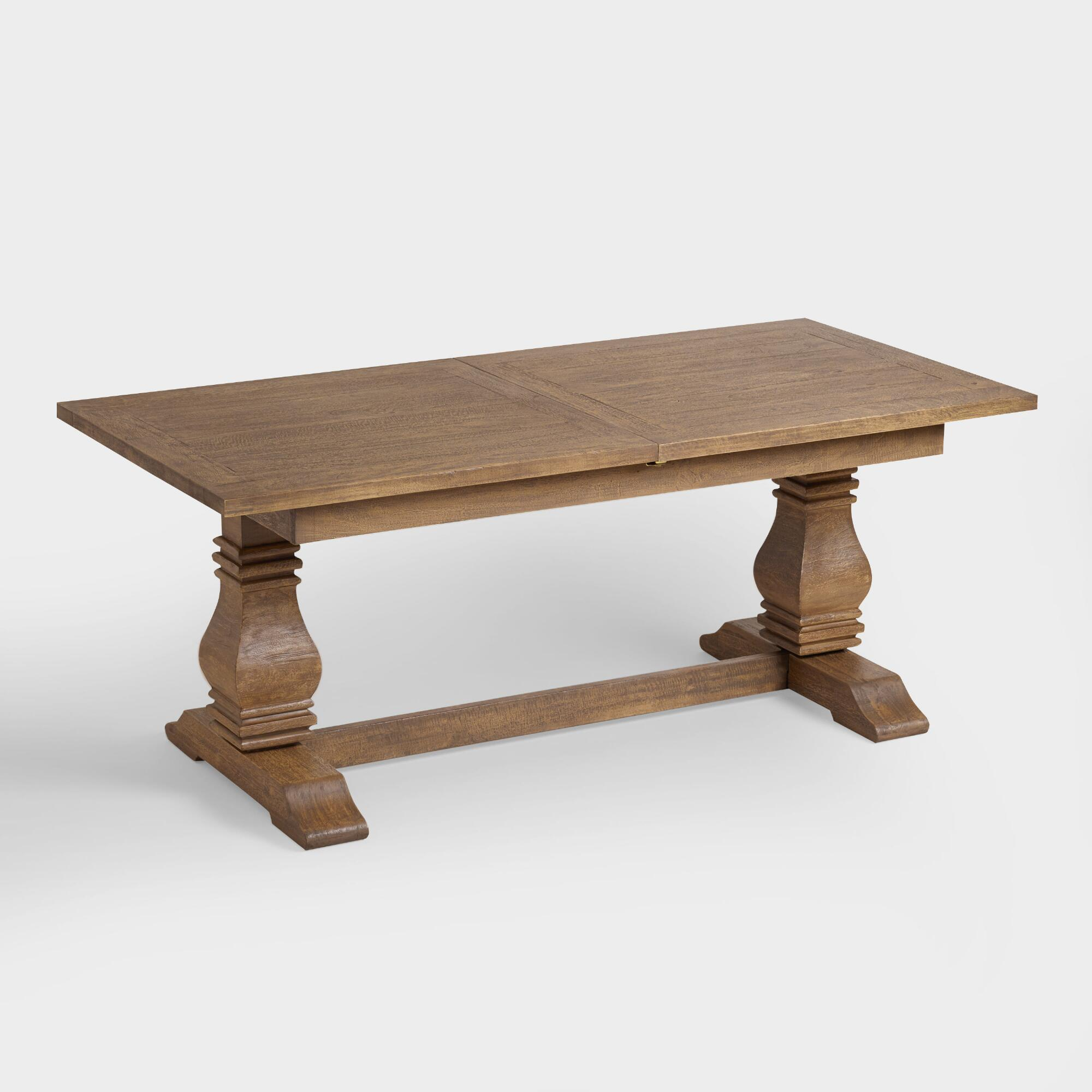 Wood deighton extension dining table world market for Extension dining table
